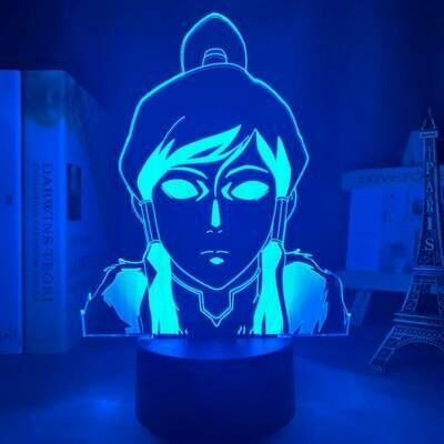 Korra 3D Night Light Table Lamp