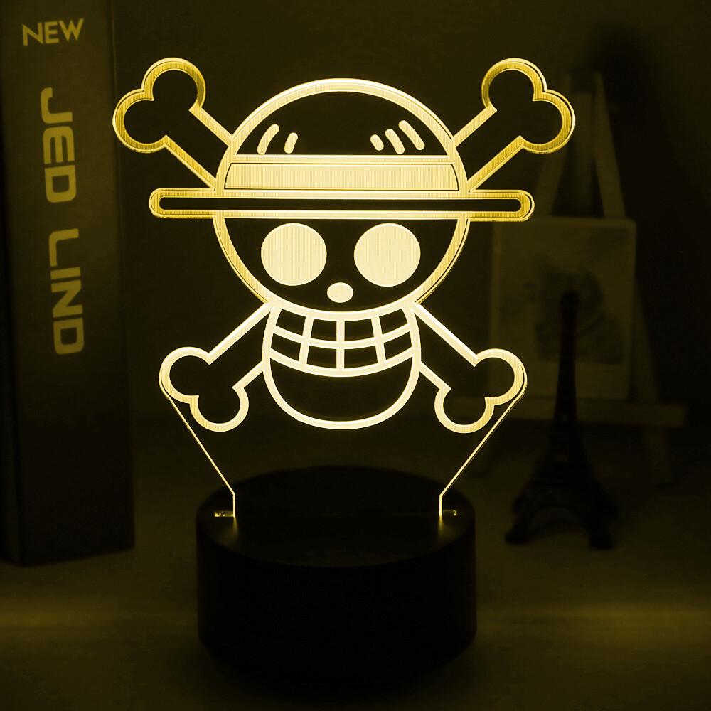 Anime ONE PIECE 3D Night Light Table Lamp