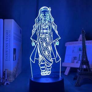 Demon Slayer Nezuko 3D Night Light Table Lamp