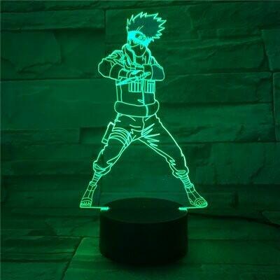 Naruto Cartoon kids Kakashi Sasuke 3D Night Light Table Desk Lamp