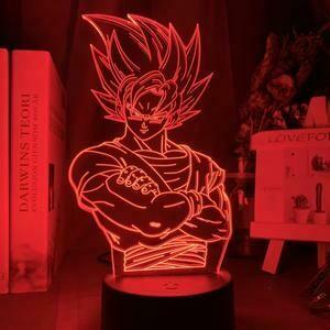 Goku 3D Night Light Table Lamp