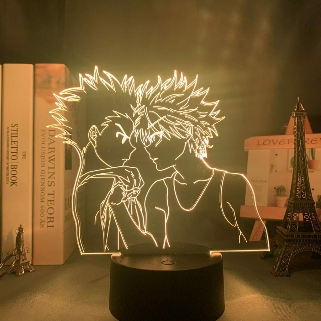 Gon Freecss And Killua Zoldyck 3D Night Light Table Lamp