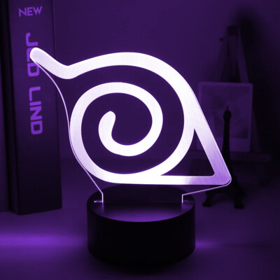 Naruto Konoha Anime 3D Night Light Table Lamp