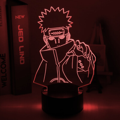 Naruto Nagato Figure 3D Night Light Table Lamp