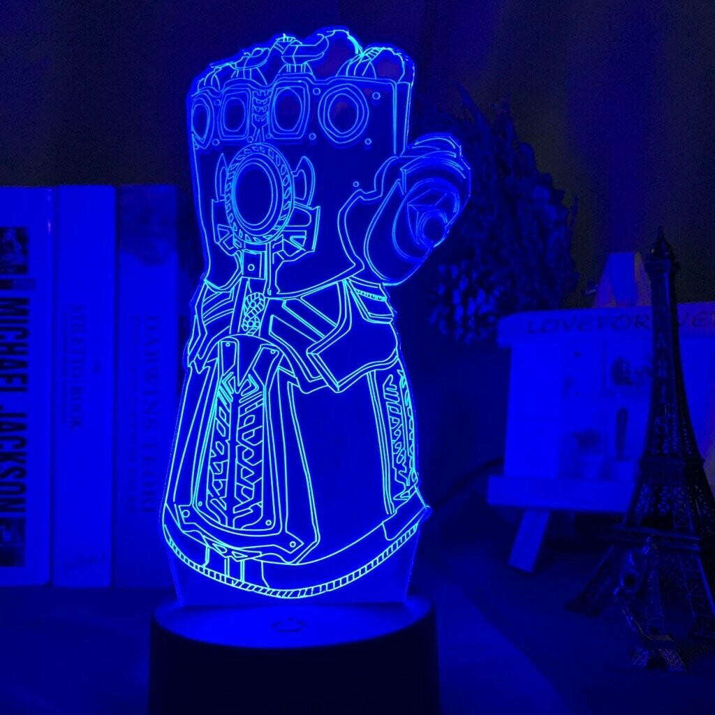 Infinity Gauntlet 3D Night Light Table Lamp