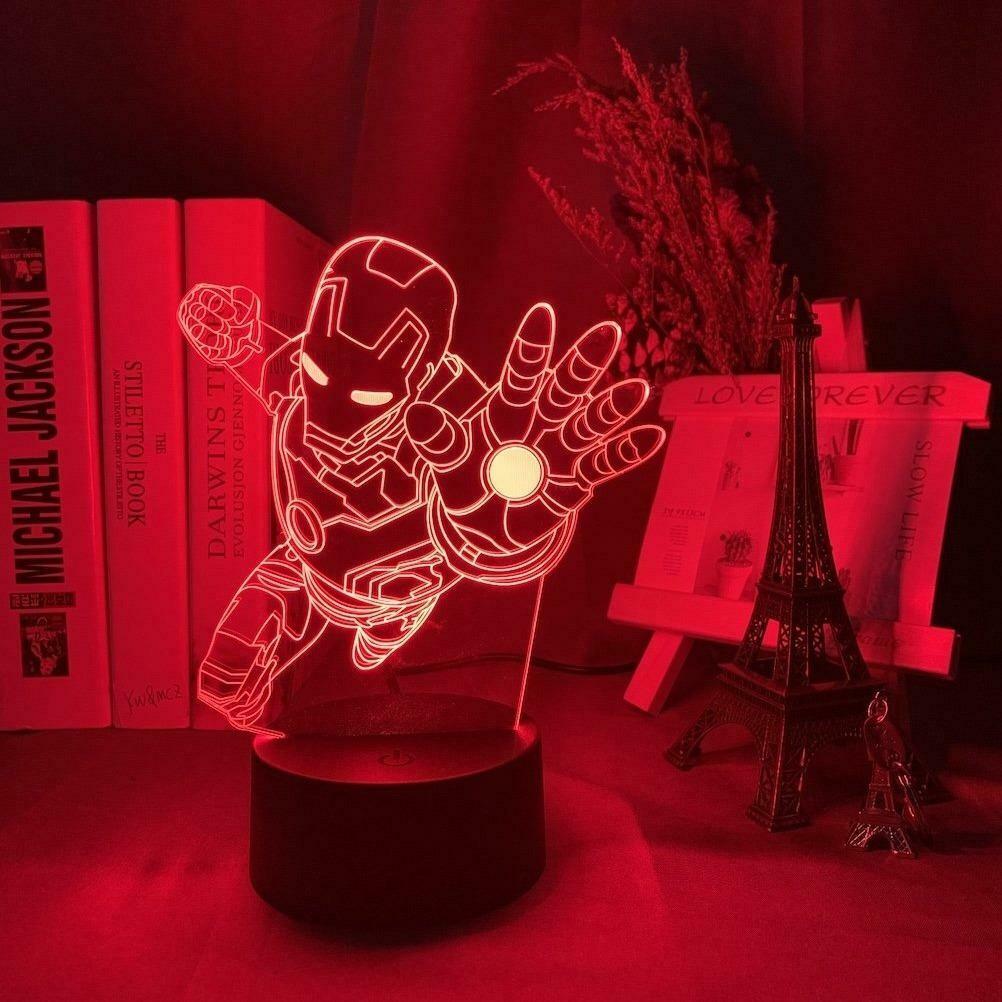Iron Man 3D Night Light Table Lamp