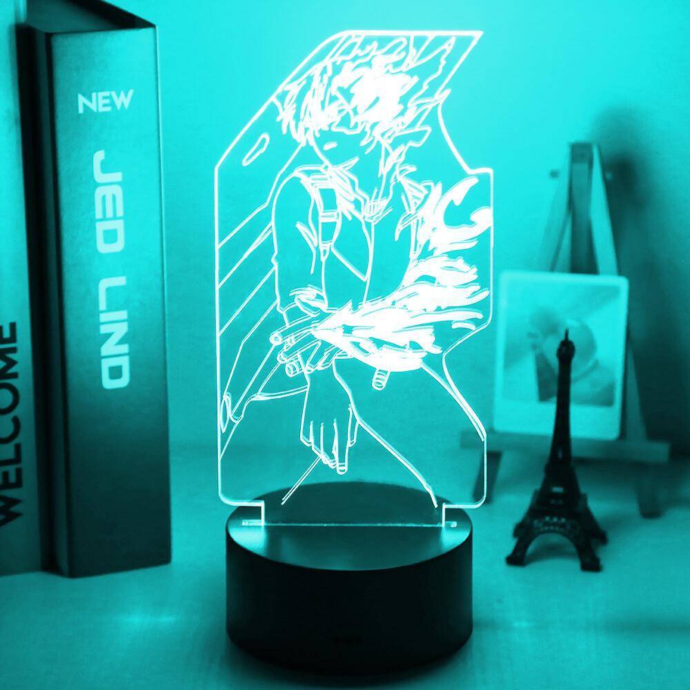 Anime My Hero Academia Shoto Todoroki 3D Night Light Table Lamp