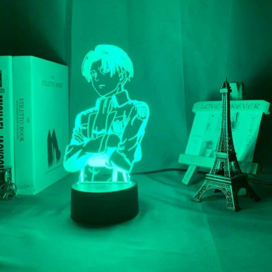 Levi Ackerman 3D Night Light Table Lamp