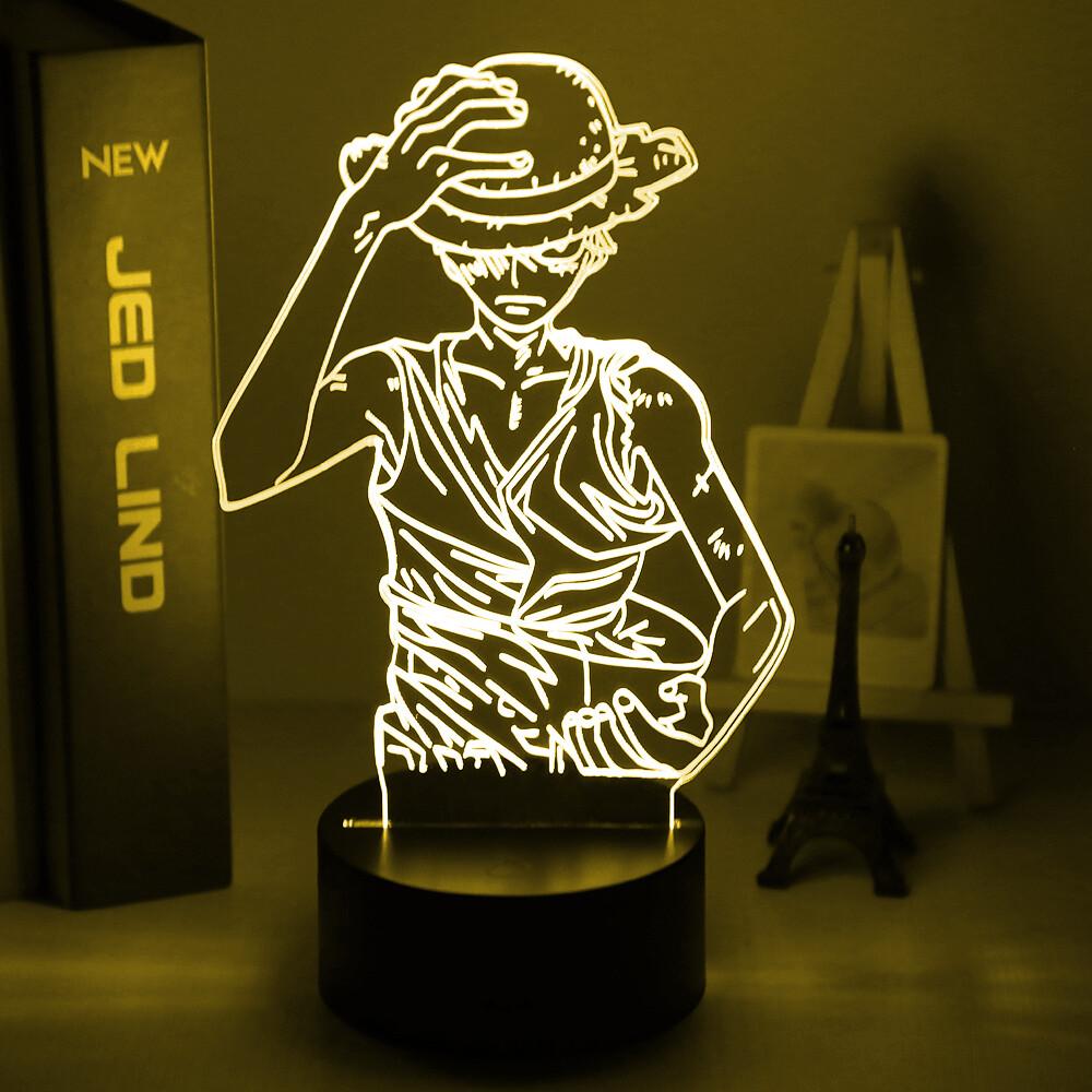 Anime One Piece Monkey D Luffy 3D Night Light Table Lamp