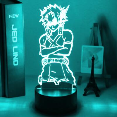 My Hero Academia Katsuki Bakugo Figure 3D Night Light Table Lamp