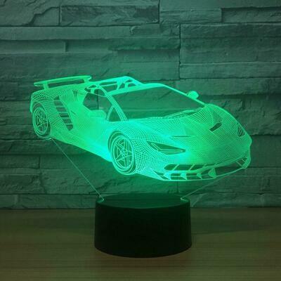 Lamborghini 3D Night Light Table Lamp