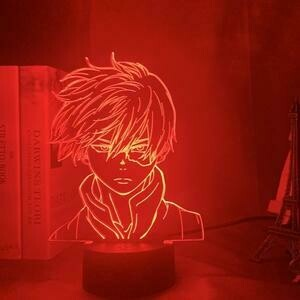 My Hero Academia Shoto Todoroki 3D Night Light Table Lamp