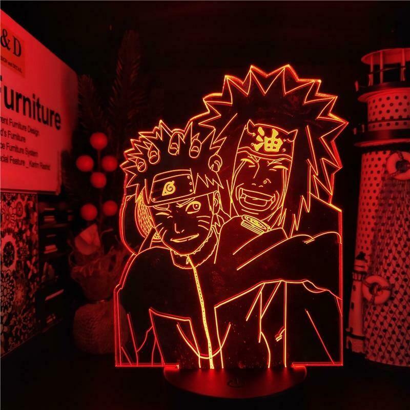 Naruto And Jiraiya 3D Night Light Table Lamp