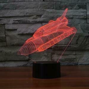 Nasa Space Shuttle 3D Night Light Table Lamp