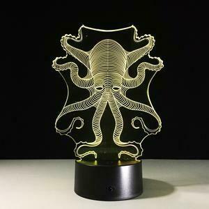 Octopus 3D Night Light Table Lamp