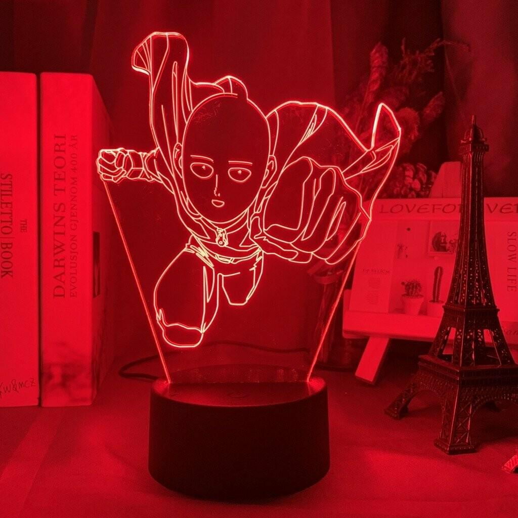 One Punch Man Saitama 3D Night Light Table Lamp