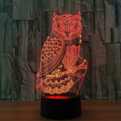 Owl 3D Night Light Table Lamp