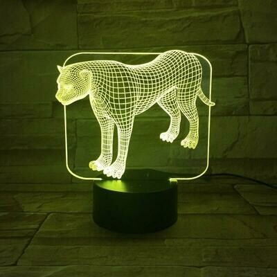 Panther 3D Night Light Table Lamp