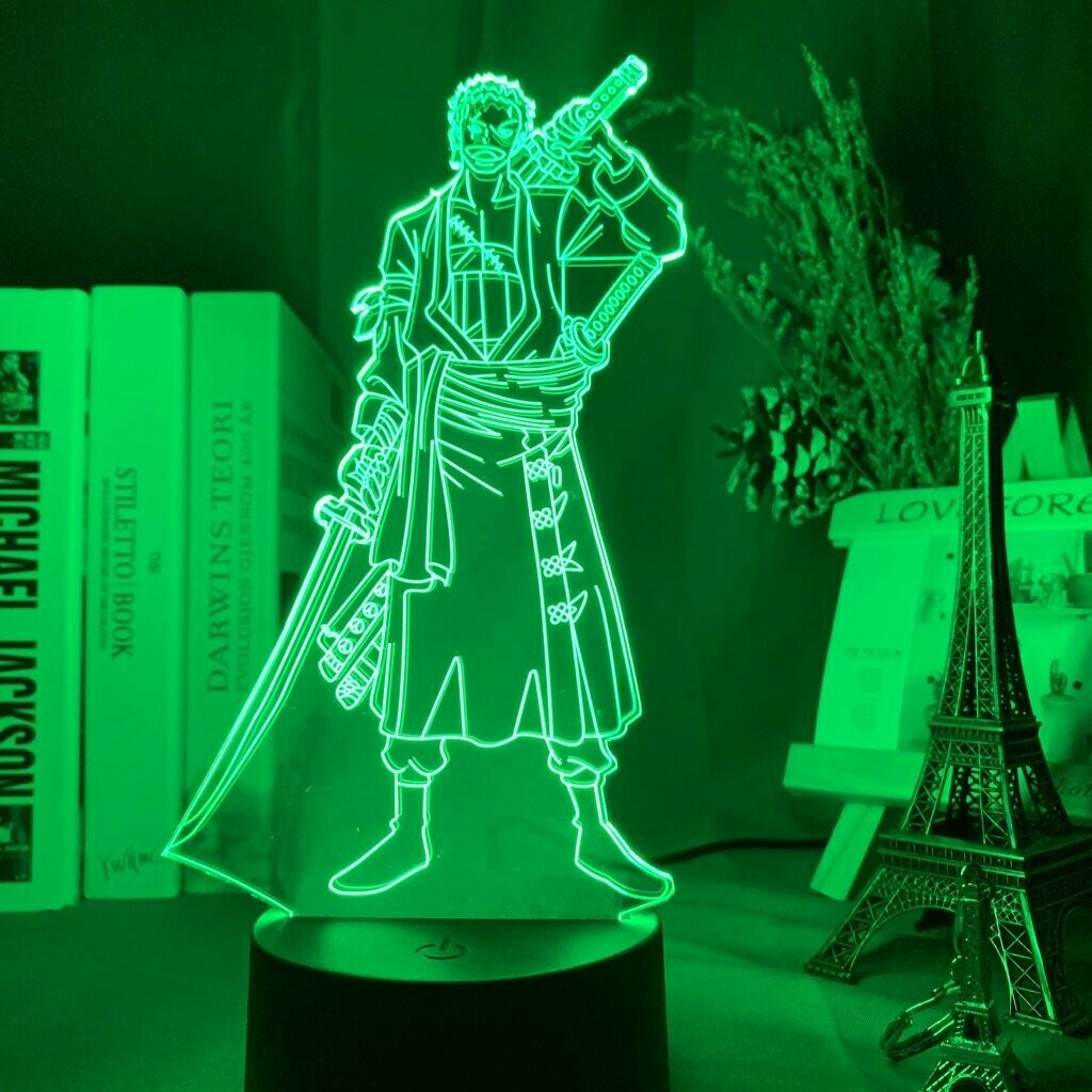 Roronoa Zoro 3D Night Light Table Lamp
