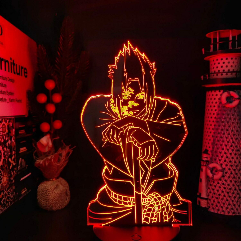 Sasuke Curse Mark 3D Night Light Table Lamp
