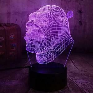 Shrek 3D Night Light Table Lamp