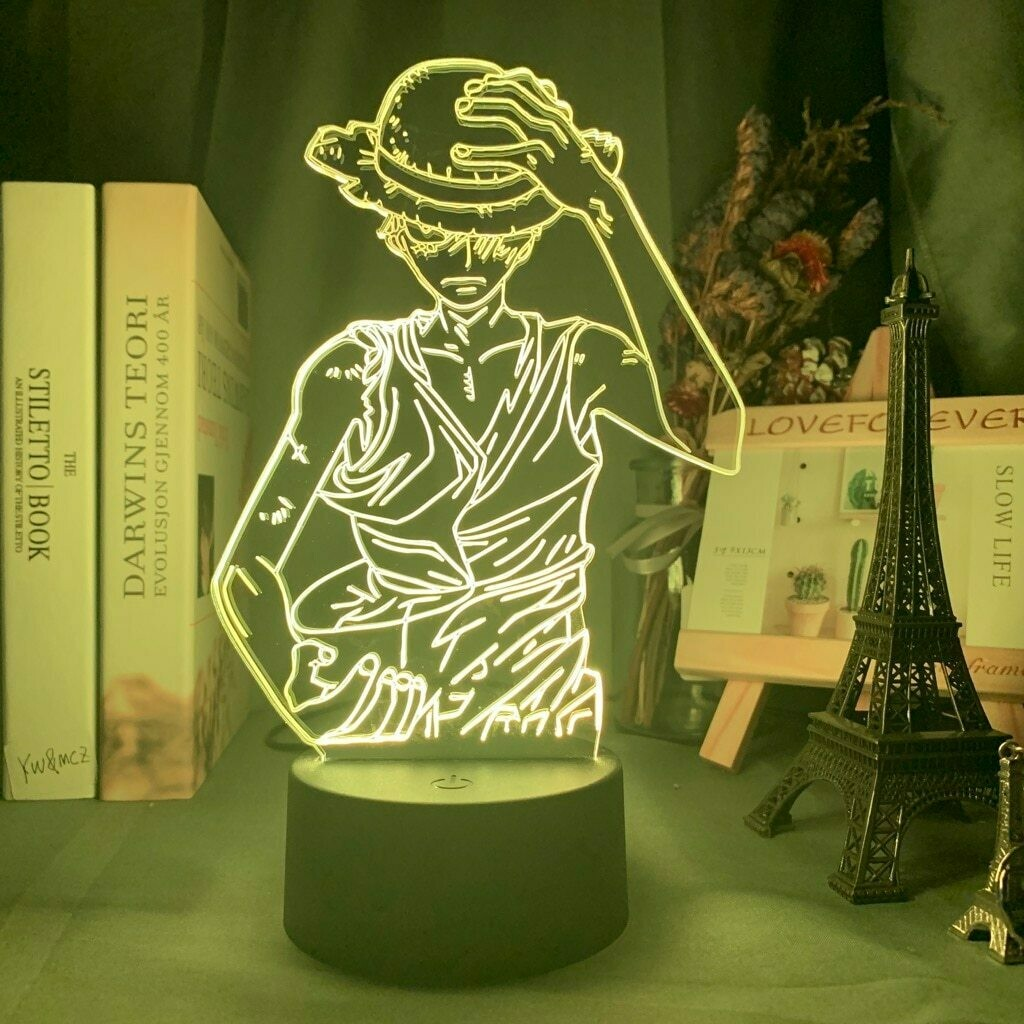 Straw Hat Luffy 3D Night Light Table Lamp