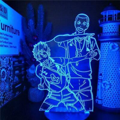 Nishinoya And Tanaka Haikyuu 3D Night Light Table Lamp