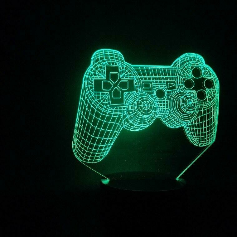 Playstation Controller 3D Night Light Table Lamp
