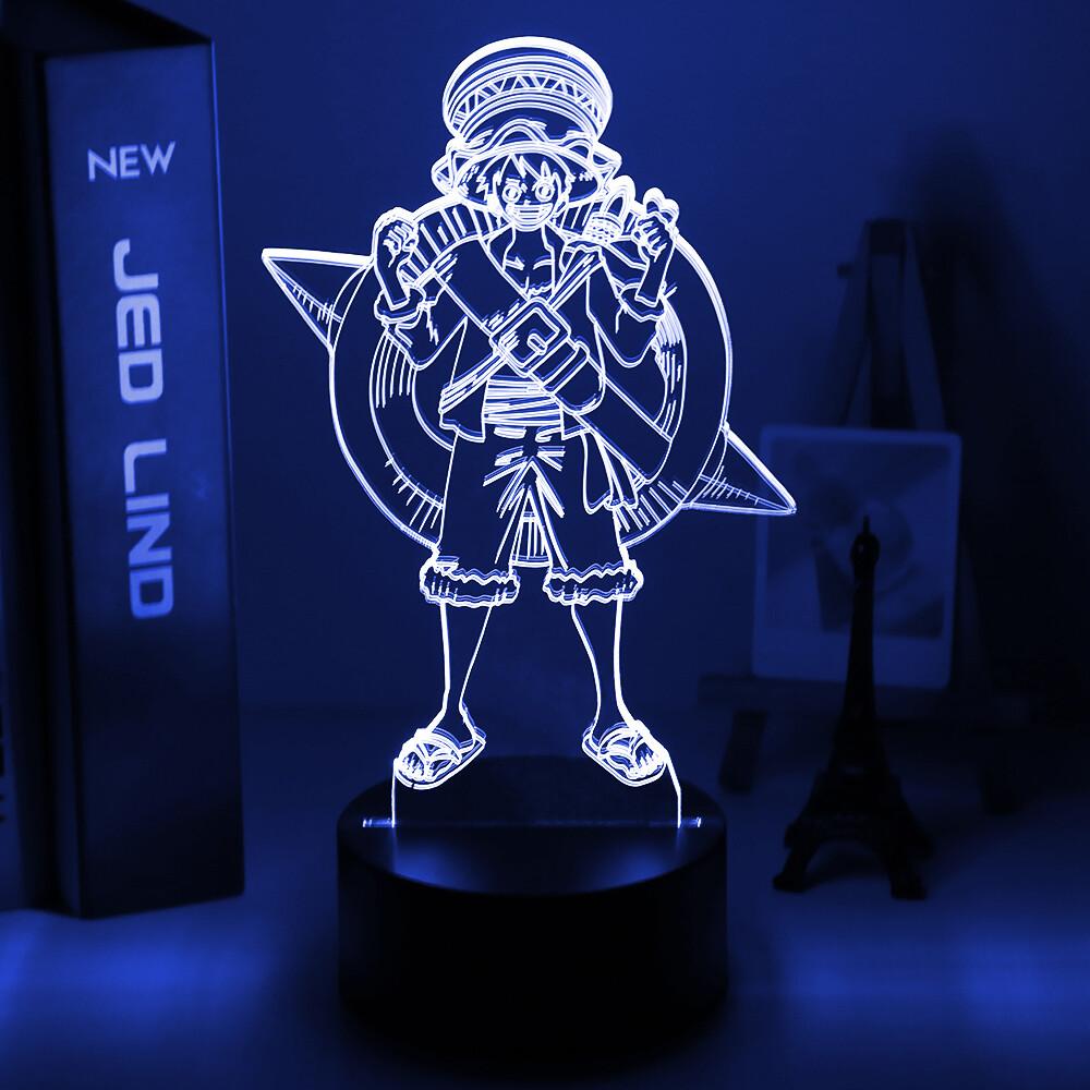 ONE PIECE Monkey D. Luffy Figure 3D Night Light Table Lamp