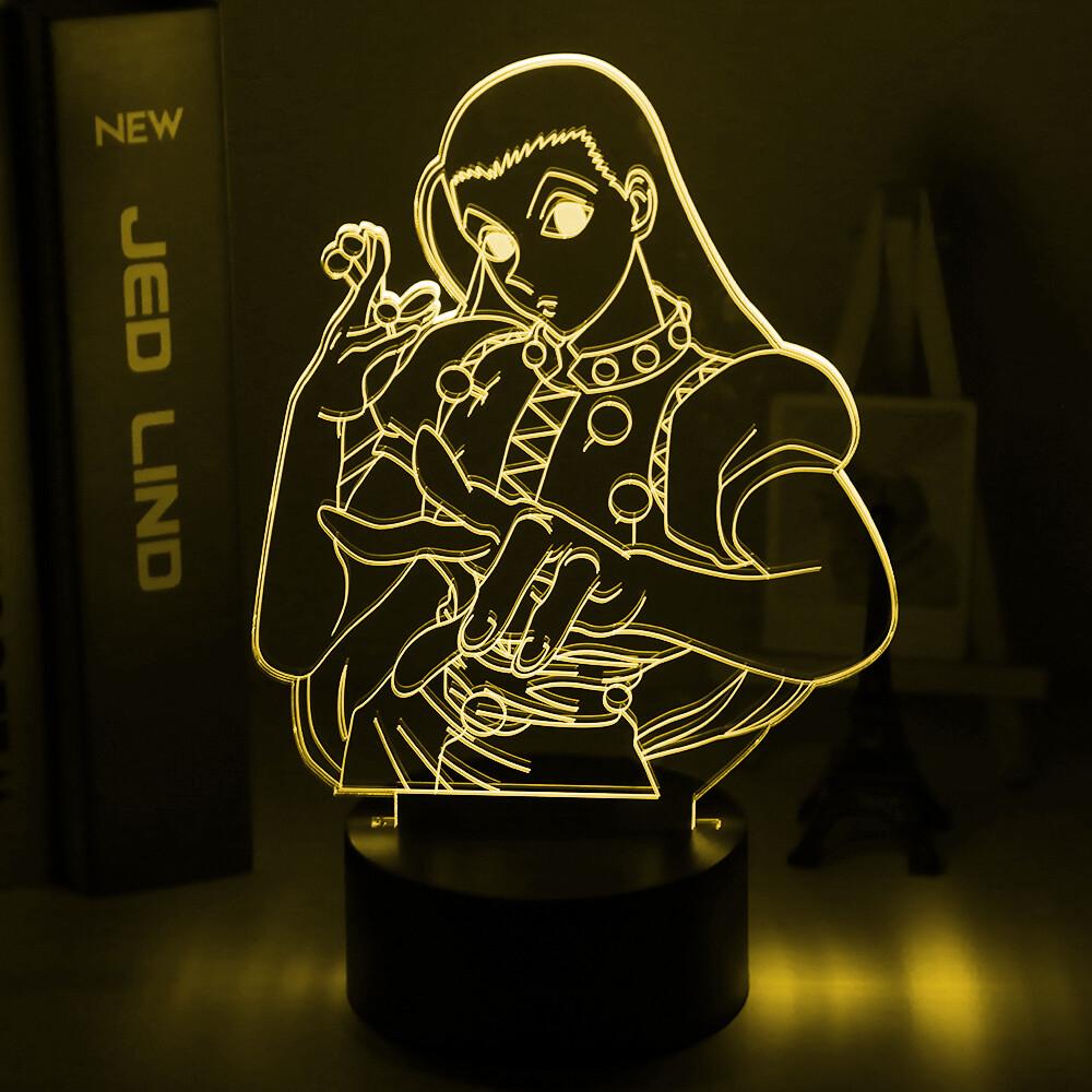 Anime Hunter X Hunter Illumi Zoldyck Figure 3D Night Light Table Lamp