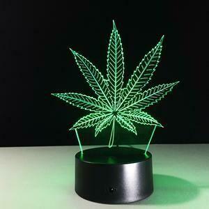 The Devil's Lettuce 3D Night Light Table Lamp