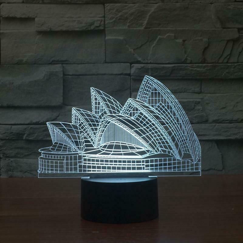 Sydney Opera House 3D Night Light Table Lamp