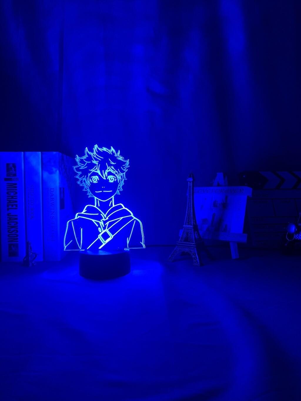 Anime Haikyuu Shoyo Hinata Figure Manga Gadget 3D Night Light Table Lamp