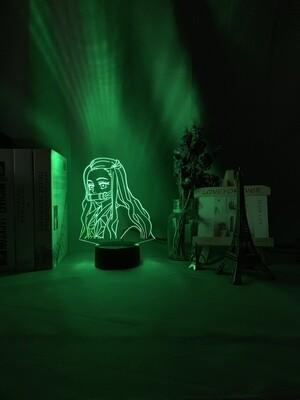 Kimetsu No Yaiba Tanjiro Kamado Demon Slayer - 3D Night Light Table Lamp