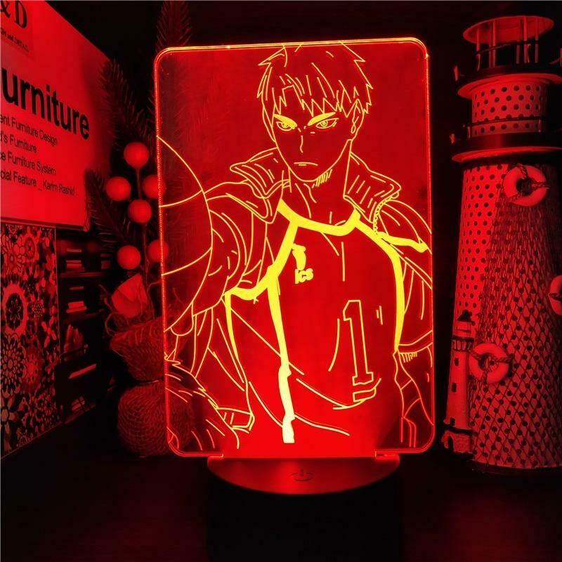 Wakatoshi Haikyuu 3D Night Light Table Lamp