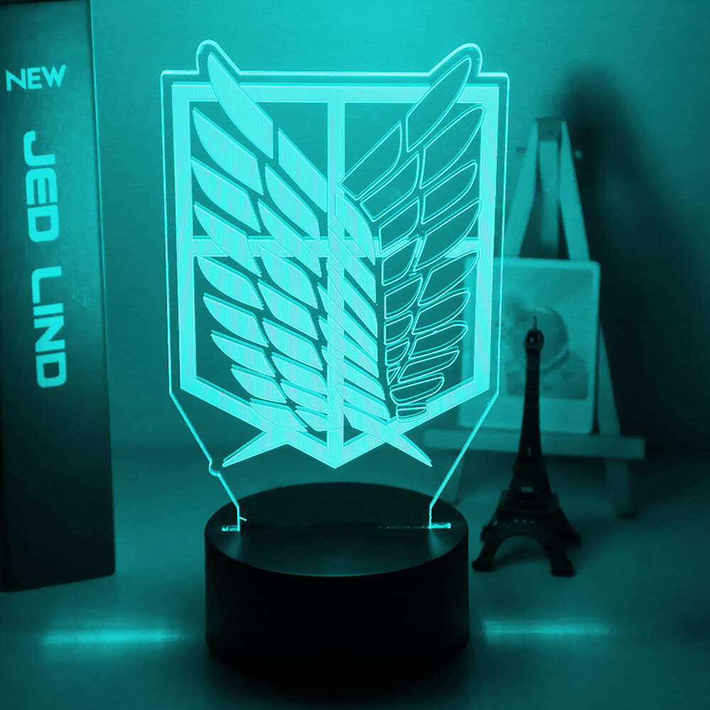 Wings of Liberty ttack on Titan - 3D Night Light Table Lamp