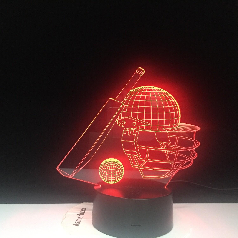 Baseball Game Hat - 3D Night Light Table Lamp