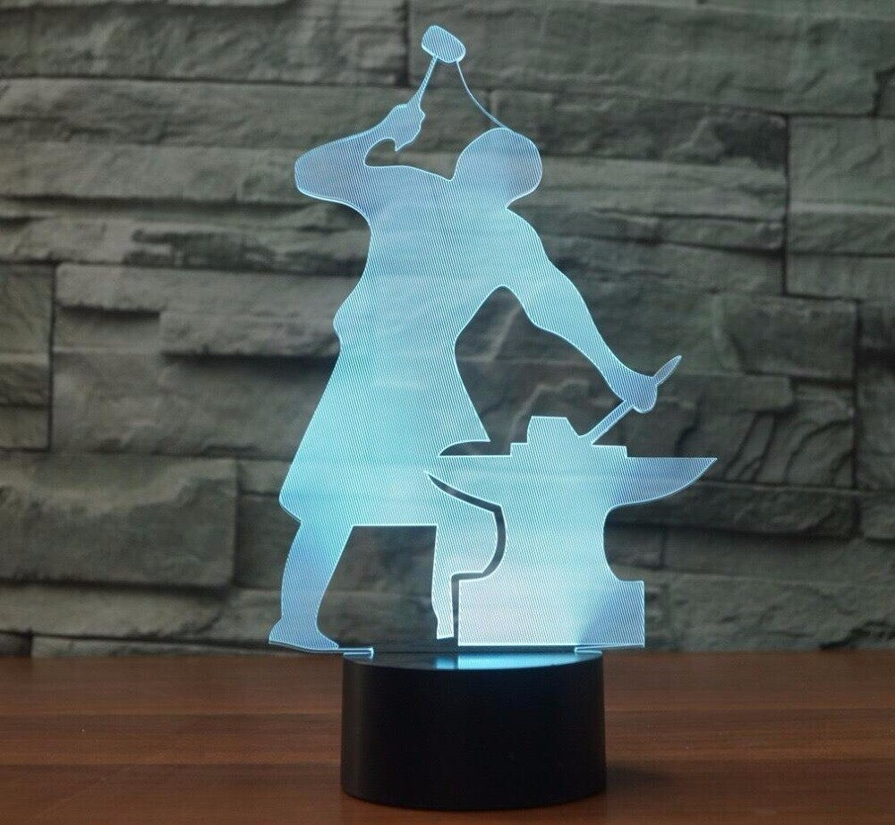 Blacksmith Moulding - 3D Night Light Table Lamp