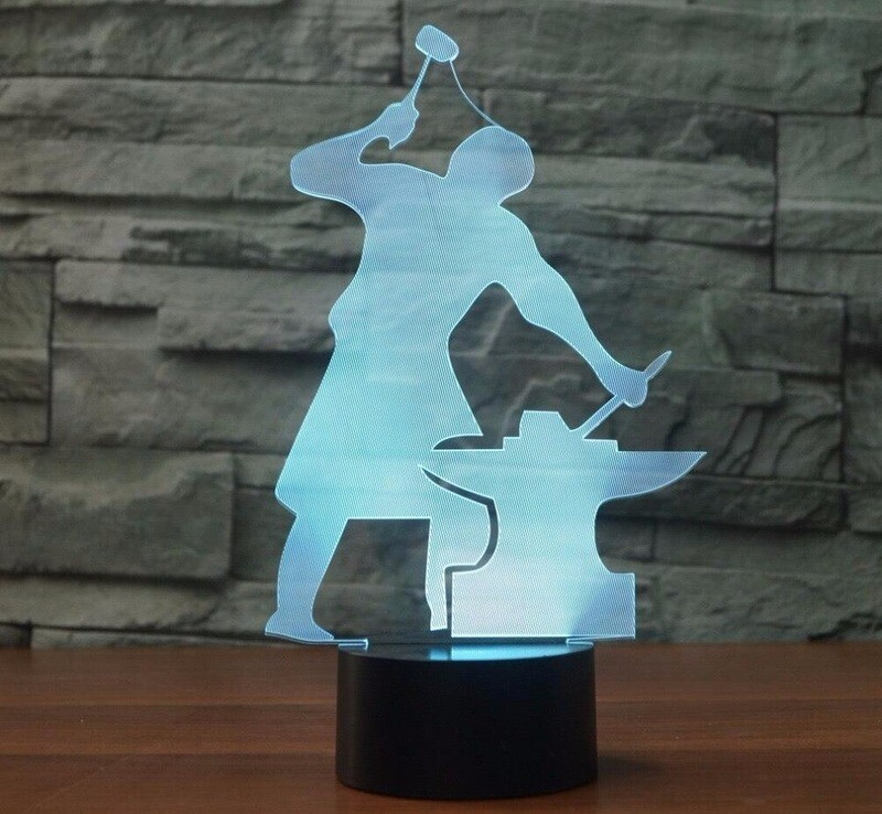 Blacksmith Moulding - 3D Night Light Table Lamp