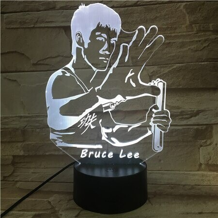 Bruce Lee Kungfu - 3D Night Light Table Lamp