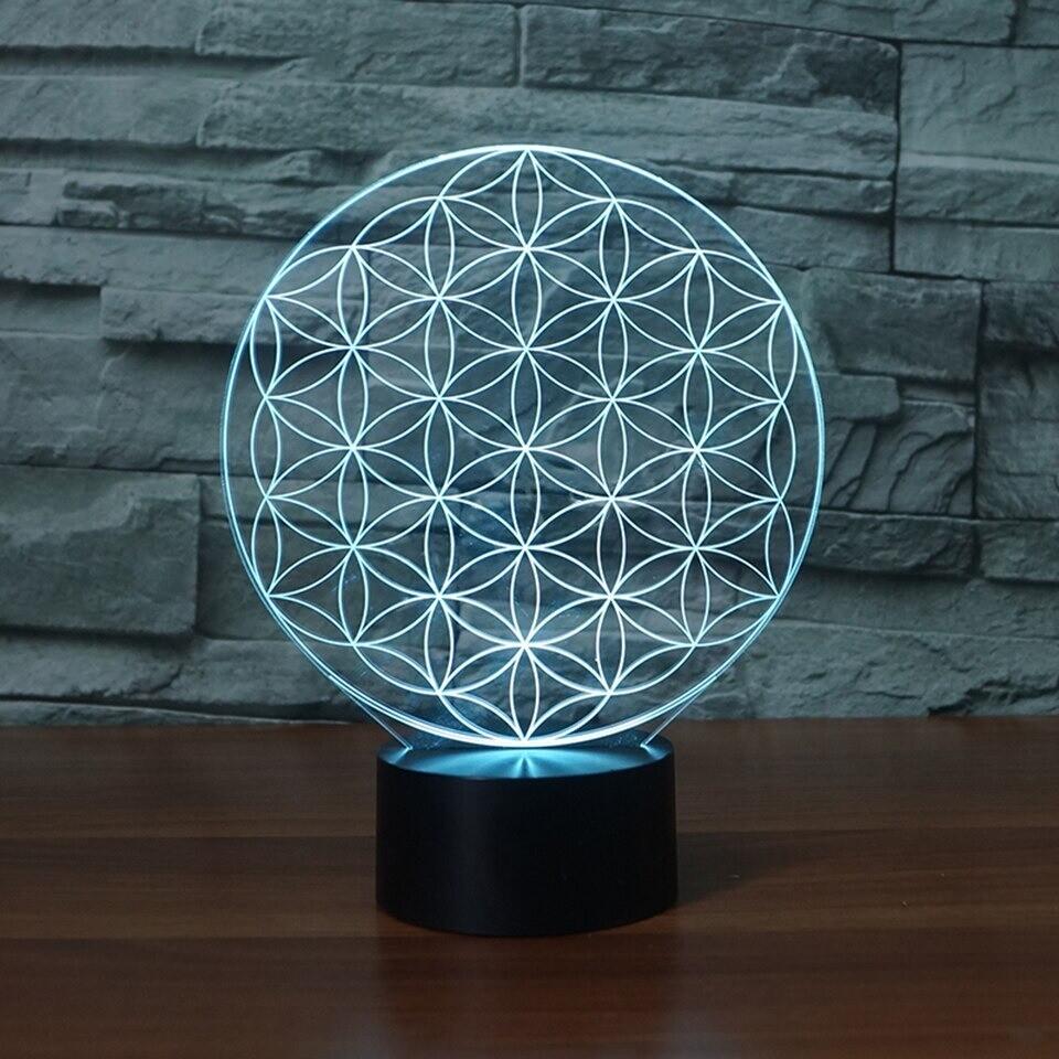 Circular Abstract - 3D Night Light Table Lamp