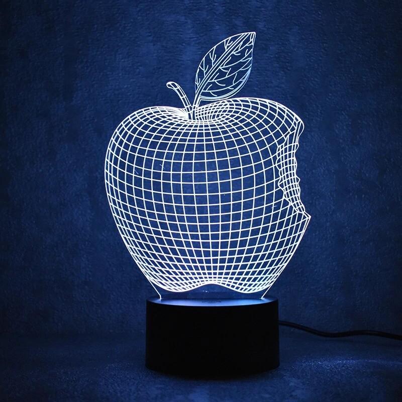 Apple - 3D Night Light Table Lamp