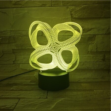 Battery Powered Office - 3D Night Light Table Lamp