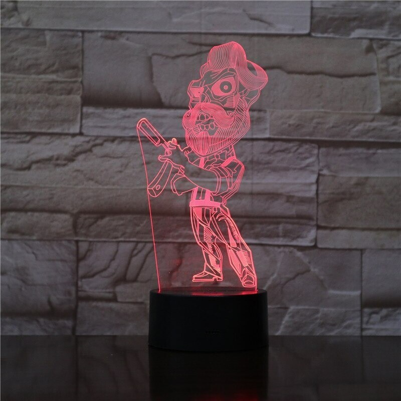Barber Shave - 3D Night Light Table Lamp