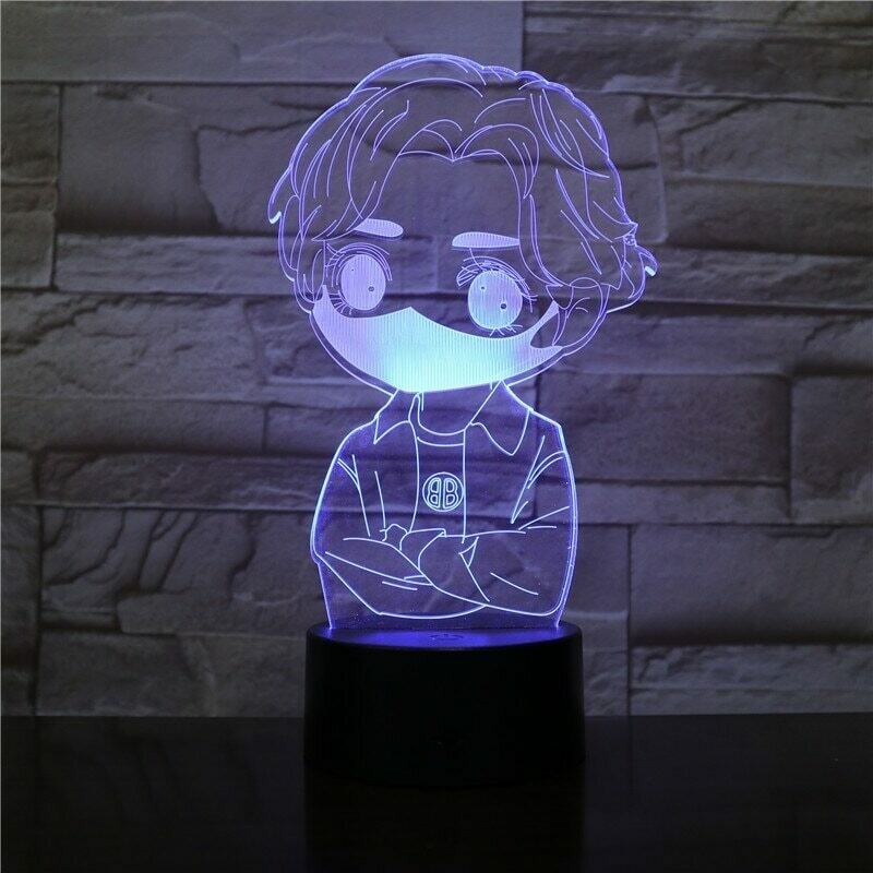 Boy with Mask - 3D Night Light Table Lamp