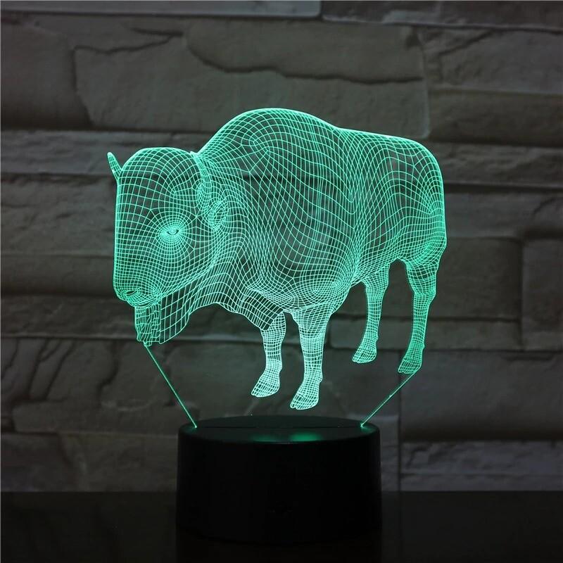 Bull - 3D Night Light Table Lamp