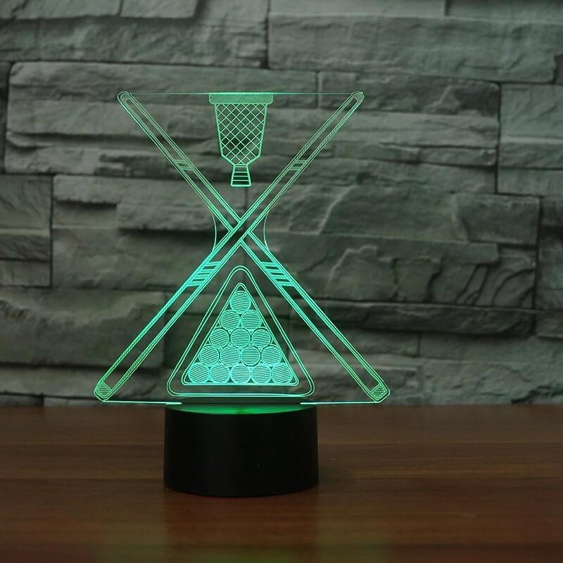 Billiards - 3D Night Light Table Lamp