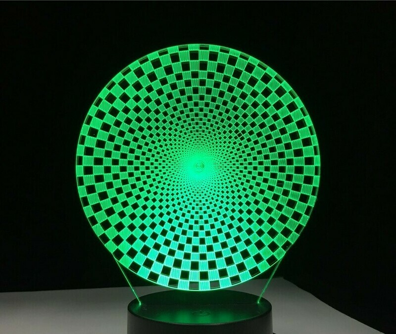 Colorful Visual - 3D Night Light Table Lamp
