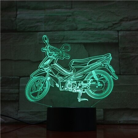 Cool Motorcycle - 3D Night Light Table Lamp