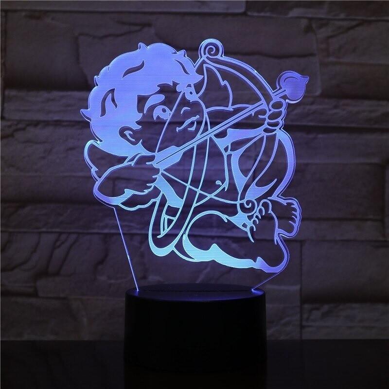 Cupid - 3D Night Light Table Lamp